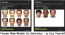 Wondrous Virtual Hairstyle Changer Online Hair Style Changer Com Short Hairstyles Gunalazisus