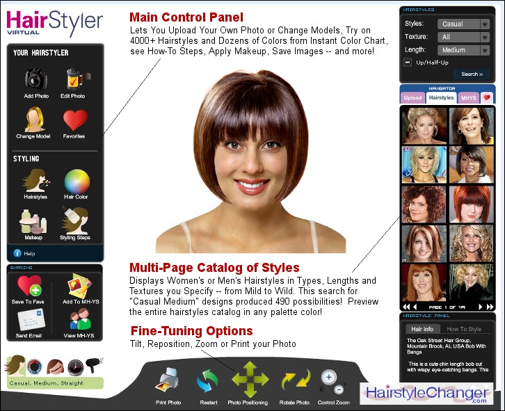 Virtual Hairstyle Changer Online -- Hair Style Changer.com