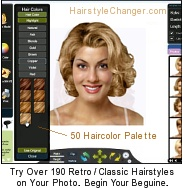 Virtual vintage hair styles